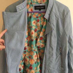 Black Rivet Jackets & Coats - Blue faux leather jacket